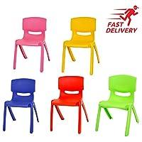 Children Strong Stackable Kids Plastic Chairs Picnic Party Garden Nursery Club Indoor Outdoor