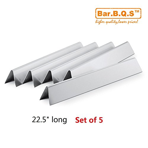 7536 Bar.b.q.s 7537 Flavorizer barre di acciaio inossidabile, heat plate, Set da 5, Aftermarket parti Flavorizer barre