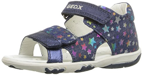 Geox Baby Girls' B Sandal Nicely B Walking Baby Shoes Blue Size: 7.5 UK