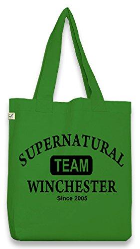 Touchlines sacchetto in cotone borsa a tracolla bag Team Winchester, verde