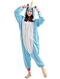 YARBAR Kigurumi Pijamas Unisexo Adulto Traje Disfraz de Halloween Cosplay Jumpsuit Animales Pyjamas Ropa De Dormir