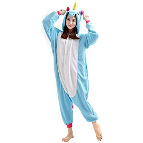 pijama de unicornio kawaii DarkCom Unisex Adulto De Dibujos Animados De Mamelucos Pijamas Novedad Cosplay Disfraces Trajes Ropa De Dormir Unicornio