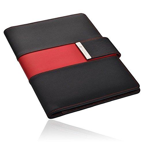 Pierre Cardin CHARENTE Schreibmappe A5, schwarz/rot