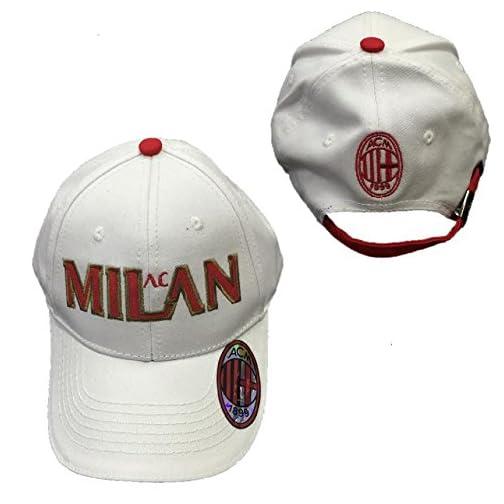Cappello Uomo Baseball A.C. Milan Calcio Cappellino con Visiera  02774 eea08544daac