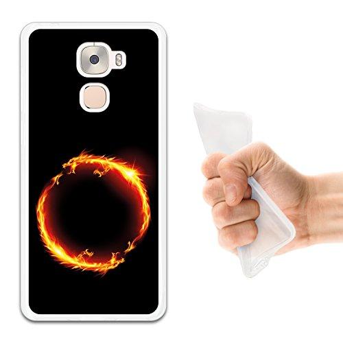 WoowCase LeTV LeEco Le Pro 3 Hülle, Handyhülle Silikon für [ LeTV LeEco Le Pro 3 ] Abstraktes Feuerkreis des Dragons 1 Handytasche Handy Cover Case Schutzhülle Flexible TPU - Transparent