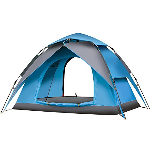 GAOJUAN 2 Personen Backpacking Zelt Single Poled Dome Camping Zelt Outdoor Tragbare, Regen-Proof, Gut Belüftet Für Jagd/Wandern/Camping Silikon Oxford Tuch Aluminium/Ultra Light,Blueash (Ultra Backpacking Person Light Zelt)