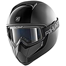 Shark casco Moto VANCORE Dual BLK, Negro, talla L