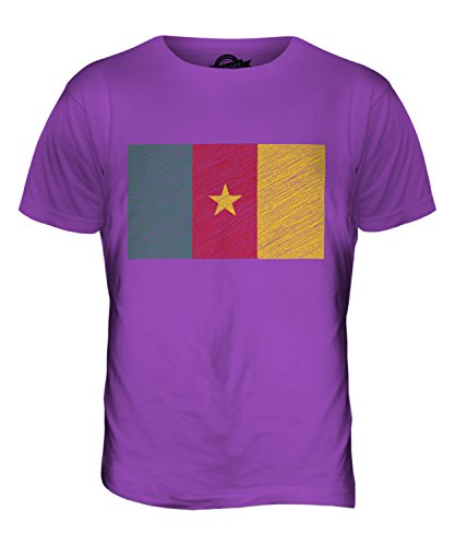 CandyMix Kamerun Kritzelte Flagge Herren T Shirt Violett