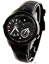 Speatak Pagani Montres Homme - Montre Homme Dble-Cadran Bracelet Cuir Noir SPEATAK 2903