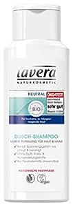 lavera Neutral Dusch Shampoo ∙ Haut & Haar ∙ Bei Neurodermitis anwendbar ∙ vegan ✔ Bio Pflanzenwirkstoffe ✔ Naturkosmetik ✔ Natural & innovative ✔ Körperpflege 1er Pack (1 x 200 ml)