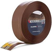 HOLZBRINK Rodapiés flexible autoadhesivo Chocolate Rodapiés flexible 50x20 mm, 5 m Zócalo Autoadhesivo