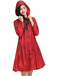 LaoZan Impermeabile Con Cappuccio Donna Raincoat Poncho Antipioggia Per  Campeggio Trekking Rosso 5cf51b1f91c3
