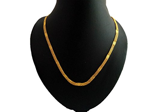 panassh 22k Gold Plated Chakra Chain for Men and Women