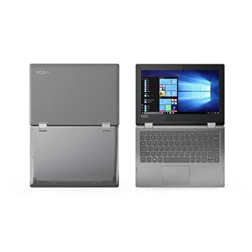 "Lenovo Yoga 330-11IGM - Ordenador portátil Convertible de 11,6"" HD (Intel Celeron N4000, 2GB RAM, 32GB Almacenamiento, Windows 10) Gris. Teclado QWERT"