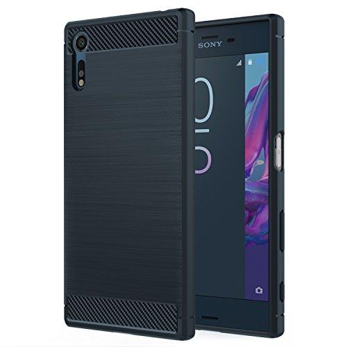MoKo Sony Xperia XZ / XZs Hülle - Premium Ultra Slim Leicht weiches TPU Protector Phone Case Handy Schutzhülle Schale Bumper für Sony Xperia XZ / Xperia XZs 2017 5,2 Zoll Smartphone, Marineblau