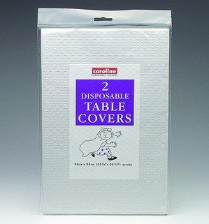 Einweg-Tischdecken (Packung mit 2, Caroline Marke) - White [Spielzeug]