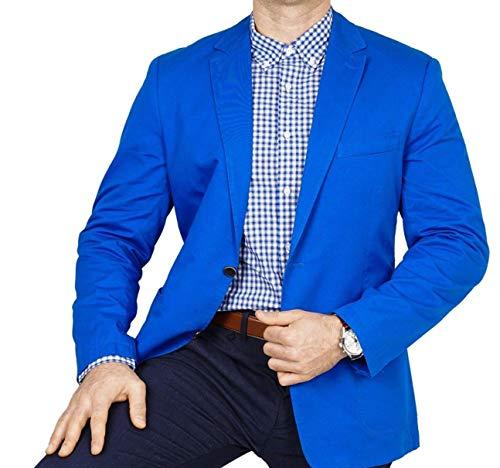 bonprix Herren Sakko untersetzt Comfort Fit Baumwoll Übergröße Blazer Zweiknopf Jackett Anzug Langgröße bequem Spezialgröße, Größe 29, lichtblau