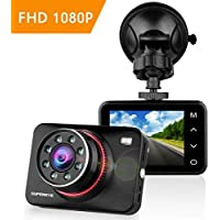 SuperEye Dash Cam Car Camera Night Vision Car Video Recorder In Car Dashcam 1080P Full HD Dashboard Camera with 170° Wide Angle G-Sensor Parking Monitor WDR Motion Detection Loop Recording