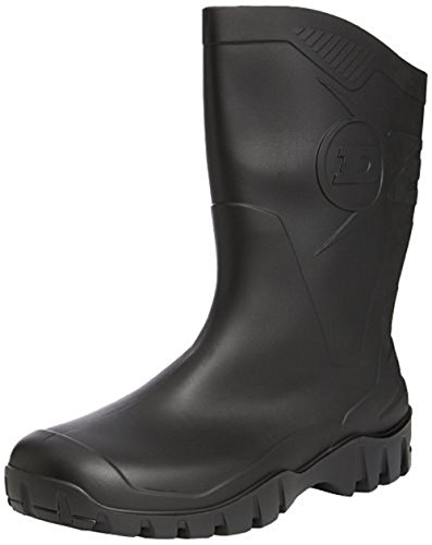 Dunlop Half-Height-Wide Calf Short Welly- In Green Or Black