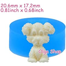 D043 molde Fimo molde silicona Animal Perro (20.6 ...
