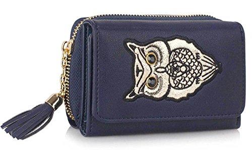 Trendstar Frauen Brieftaschen Damen Geldbörsen Kleine Hoch Qualität Mädchen Kartenhalter Neue E - Marine