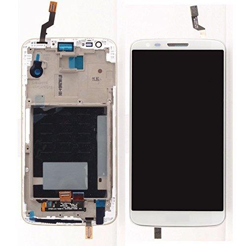 LG Optimus G2 D802 D805 LCD Display Touchscreen Digitizer Glas Assembly Rahmen Ersatzteile + Werkzeuge (Weiß) Lg G2 Lcd Digitizer