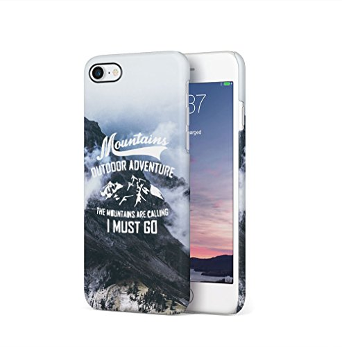 I Promise To Stay Wild Wanderlust Travel Apple iPhone 7 PLUS SnapOn Hard Plastic Phone Protective Custodia Case Cover Mountains Are Calling