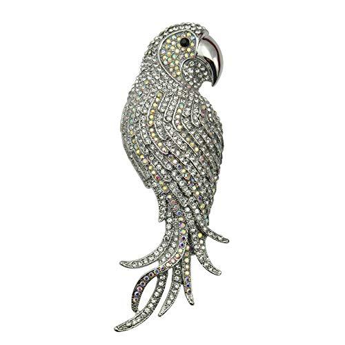 LFDXZ 4 Farben Optional Atemberaubende Kristall Strass Papagei Brosche Tier Modeschmuck WEIß BT4552 -