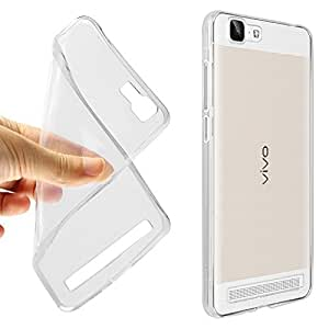 SDO Dotted Finish Ultra Thin Silicone Soft Case Back Cover for VIVO V1- Transparent