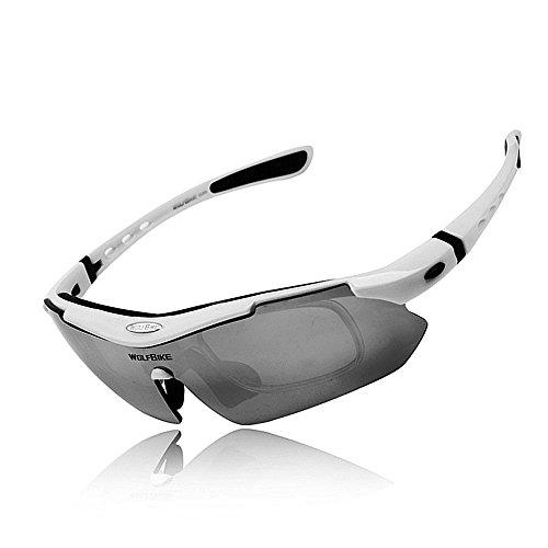 witmoving ciclismo gafas polarizadas gafas de sol deportivas para hombres/mujeres bicicleta gafas con protección UV -5ssts lentes intercambiables