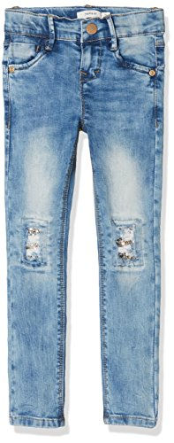 NAME IT Mädchen NKFPOLLY DNMTESSA 1001 Pant NOOS Jeans, Blau (Light Blue Denim), 104 -