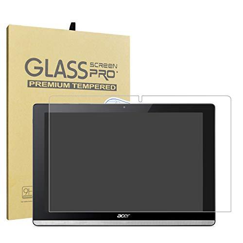 LiuShan Acer Iconia One 10 B3-A50 Schutzfolie, [HIGH DEFINITON HD KLARHEIT] nur 0.3mm Gehärtetes Glas Panzerglas Folie Schutzfolie Bildschirmschutz Folie für 10.1