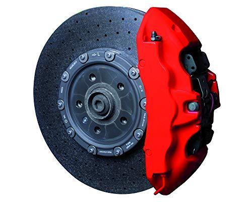 Foliatec 2175 Kit verniciatura pinze Freni opaco3 componenti, Rosso Opaco