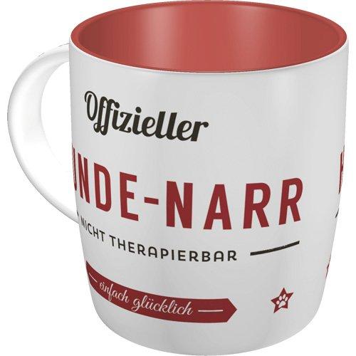 Nostalgic-Art 43038 PfotenSchild - Hunde-Narr  Retro Tasse für Hunde-Liebhaber   Kaffee-Becher   Geschenk-Tasse   Vintage