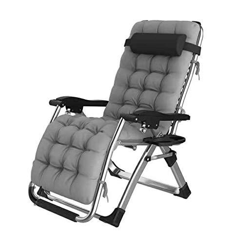 YUER Klappbare Liegestühle, Einzelschlafsofa in der Mittagspause Sessel mit fauler Rückenlehne Liegender Gartenstuhl Strandliege Liegestühle aus Tweed Wetterfest (Color : D)