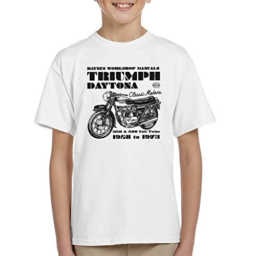 POD66 Haynes Owners Workshop Manual Triumph Daytona 350 500 Kid's T-Shirt - Daytona 500 Spiel