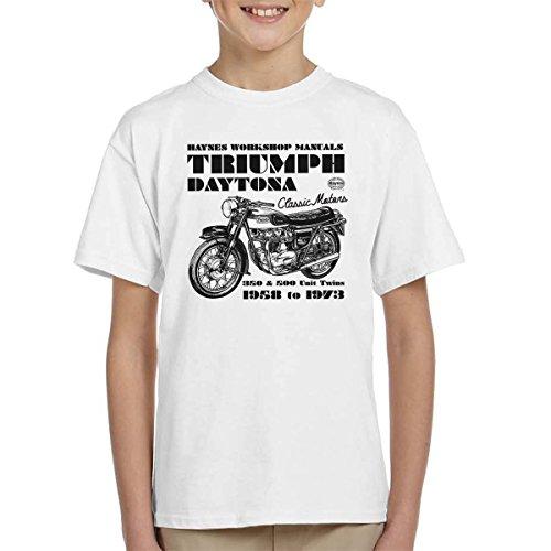 POD66 Haynes Owners Workshop Manual Triumph Daytona 350 500 Kid's T-Shirt - Spiel 500 Daytona
