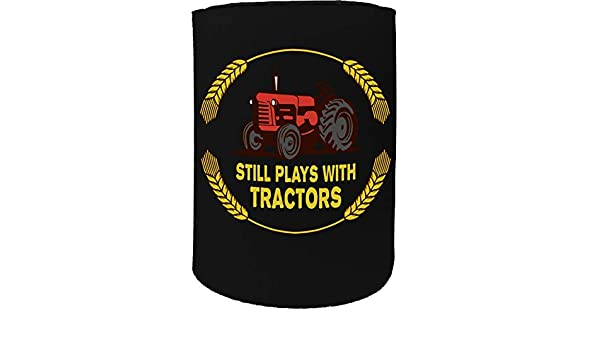 Still Tractors Funny Novelty Birthday Can Cooler Tall Stubby Holder