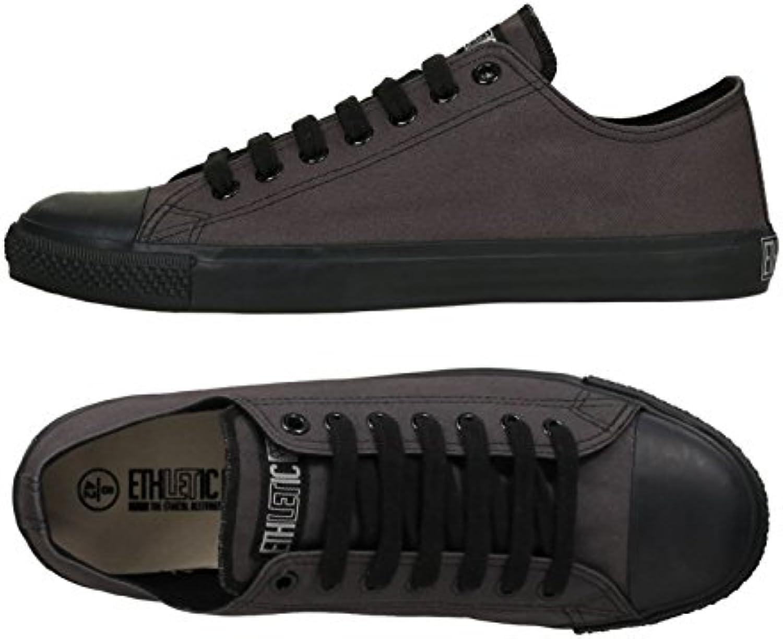Ethletic Sneaker Vegan LoCut Classic   Farbe Pewter Grey/Black Aus Bio Baumwolle