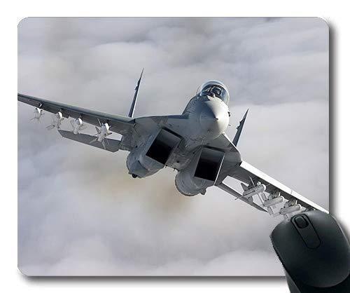 Militärflugzeugbilder frei, Spielmausunterlage, Straßenkämpfer Cosplay, Mausunterlage mit genähten Kanten