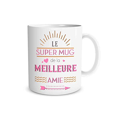 Mug Ceramique 'Le super mug de la meilleure amie'