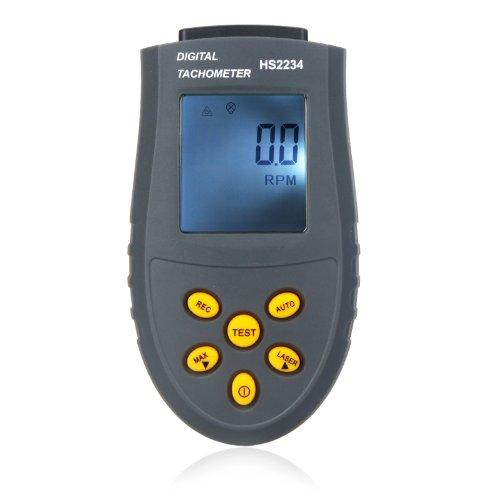 KKmoon - Tacómetro digital RPM Herramienta Medidor LCD Sin Contacto