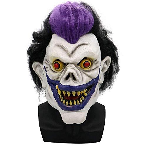 YaPin Halloween Horror Maske Kopfbedeckungen Lila Teufel Geist König Nacht König Ghost Gesicht Requisiten Spoof Latex Maske Kopfbedeckungen Männer Und Frauen