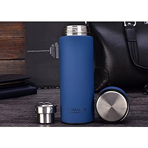 tazza di vuoto affari tazza di acqua in acciaio inox maschile Coppa d'isolamento creativo ufficio portatile ( colore : Blu )