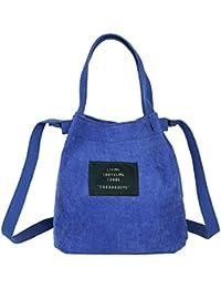 9a453babb4 Vintage da donna in velluto a coste borsetta a tracolla messenger bag  Satchel Tote borsetta Crossbody borse di…