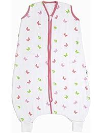Slumbersac–Gigoteuse en Mousseline pour Bébé avec pieds environ 0,5Tog–butterfly- Disponible en 4tailles