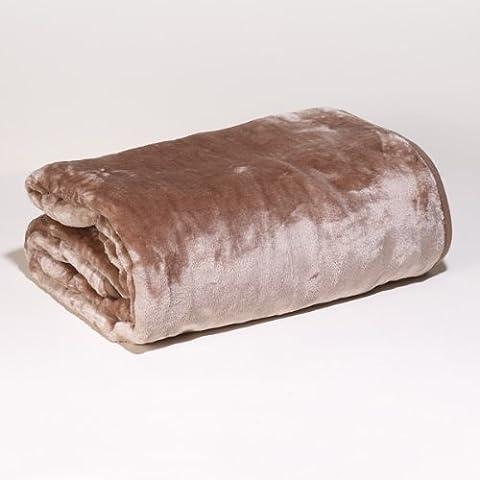 San Carlos Alaska - Manta, terciopelo, alta densidad, 560 g, pelo antideslizante, color tostado