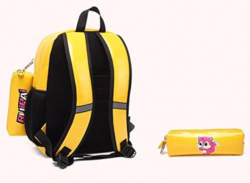 Keshi Pu neuer Stil Schulrucksäcke/Rucksack Damen/Mädchen Vintage Schule Rucksäcke mit Moderner Streifen für Teens Jungen Studenten Rot