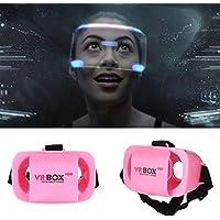 melyseu Mini Vasos la Realidad Virtual Vasos Auriculares VR Gafas 3D VR Headset–para películas y Juegos 3D, vídeo Movie Game Gafas 3D VR Compatible con Android y Apple–Smartphone Rosa