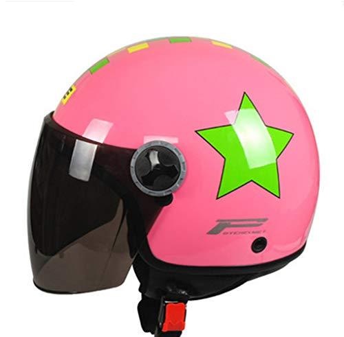 Retro Motorradhelm im britischen Stil für Erwachsene Motorradhelme mit Sonnenblende,Moto Motocross-Schutzkappen für alle Jahreszeiten